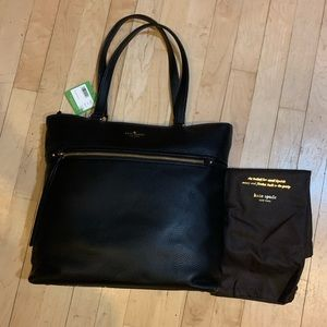NWT KATE SPADE Cobble Hill Tayler tote in black